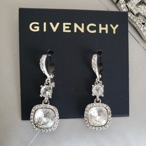 Givenchy drop antique crystal earrings